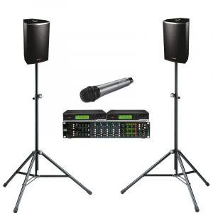 JH-RENT Presentatie set 5 met handheld microfoon