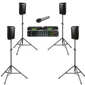 JH-RENT Presentatie set 6 met handheld microfoon