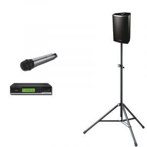 JH-RENT Presentatie set 4 met handheld microfoon